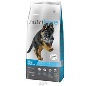 Nutrilove Dog dry Junior L fresh chicken 12kg Konzerva Nutrilove Dog paté Lamb 800g (zdarma)Konzerva Nutrilove Dog paté Chicken 800g (zdarma)