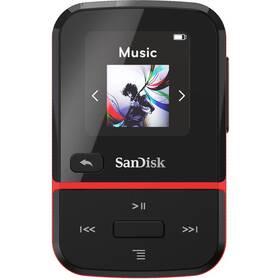SanDisk Clip Sport Go2 16GB (SDMX30-016G-E46R) čierny/červený