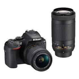 Nikon D5600 + 18-55 AF-P VR + 70-300 AF-P VR (VBA500K004) černý + Cashback 5000 Kč + Doprava zdarma