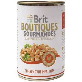 Konzerva Brit Boutiques Gourmandes Chicken True Meat Bits 400g