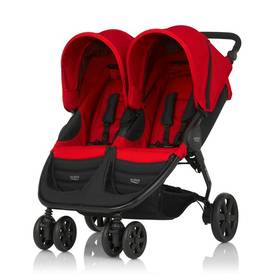 Britax B-AGILE DOUBLE, Flame Red červený