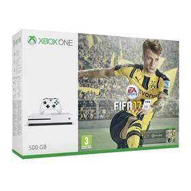 Microsoft Xbox One S 500 GB + FIFA 2017 (ZQ9-00056) bílá
