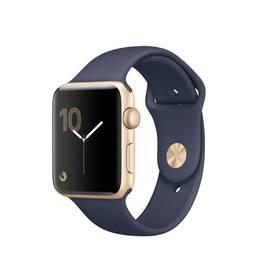 Apple Watch Series 2 42mm pouzdro ze zlatého hliníku - půlnočně modrý sportovní řemínek (MQ152CN/A) + Doprava zdarma