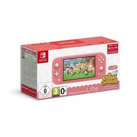 Nintendo Switch Lite + Animal Crossing: New Horizons + Nintendo SWITCH online předplatné na 3 měsíce (NSH125) růžová