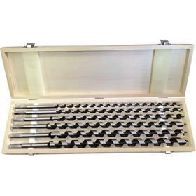EXTOL PREMIUM 8801292, hadovité do dřeva, 6 ks, 460 mm, šestihranná stopka, v dřevěné kazetě ocel