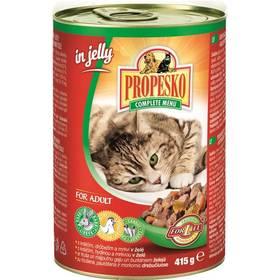 Propesko kúsky mačka králik + hydina + mrkva v želé 415 g