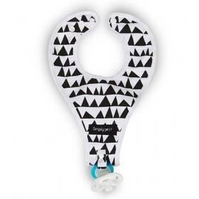 Simply Good Geo Love s poutkem na dudlík černý/bílý