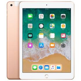 Apple iPad (2018) Wi-Fi + Cellular 128 GB - Gold (MRM22FD/A) SIM s kreditem T-Mobile 200Kč Twist Online Internet (zdarma)