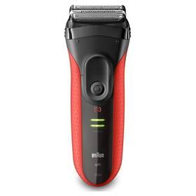 Braun Series 3 3030s černý/červený