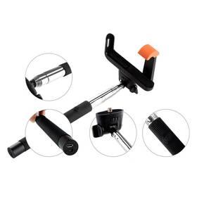 Selfie tyč GoGEN 2 teleskopická, bluetooth černá (GOGBTSELFIE2B) + Doprava zdarma