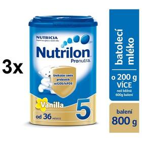 Nutrilon 5 Pronutra Vanilka, 800g x 3ks + DÁREK + Doprava zdarma