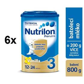 Nutrilon 3 Pronutra Vanilka, 800g x 6ks + Doprava zdarma