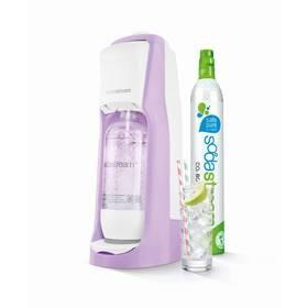 SodaStream Pastels JET PASTEL VIOLET fialový + Láhev dětská SodaStream Příšerky + sirup v hodnotě 399 Kč