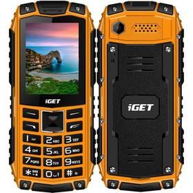 iGET Defender D10 Dual SIM (84000427) oranžový SIM s kreditem T-Mobile 200Kč Twist Online Internet (zdarma)