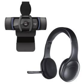 Logitech HD C920S Pro + Headset Logitech Wireless H800