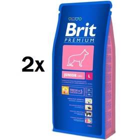 Brit Premium Dog Junior L 2 x 15 kg + Doprava zdarma