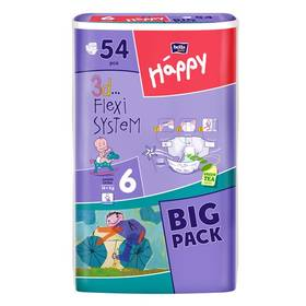 Bella Baby Happy Junior extra Big Pack 54 ks Ubrousky čistící Bella Baby Happy hedvábí a bavlna 64 ks (zdarma)