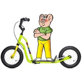 Yedoo Čtyřlístek Mini Bobík žlutá/zelená + Reflexní sada 2 SportTeam (pásek, přívěsek, samolepky) - zelené v hodnotě 58 Kč