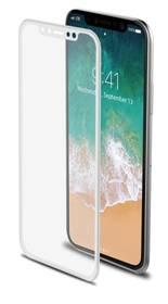 Celly 3D pro Apple iPhone X - bílé (3DGLASS900WH) bílé