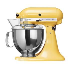 KitchenAid Artisan 5KSM150PSEMY žlutý Příslušenství k robotu KitchenAid KB3SS nerezová mísa (3l) (zdarma)Příslušenství k robotu KitchenAid 5KFE5T plochý šlehač se stěrkou (zdarma) + Doprava zdarma