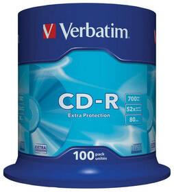 Verbatim CD-R 700MB/80min, 52x, Extra Protection, 100cake (43411)