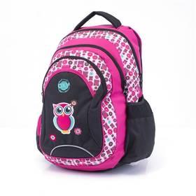 P + P Karton Anatomický batoh OXY Fashion Pink Owl + Doprava zdarma