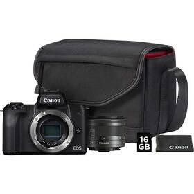 Canon EOS M50 + EF-M15-45 + SB130 + 16GB karta (2680C064) černý + Doprava zdarma