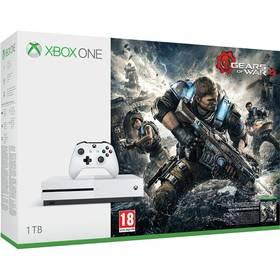 Microsoft Xbox One S 1 TB + Gears of War 4 (234-00040) bílá