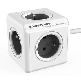 Powercube Extended, 5x zásuvka, 1,5m šedý/bílý