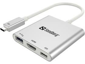 Sandberg USB-C Mini Dock (136-00) stříbrná