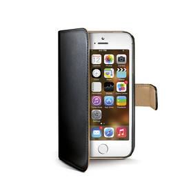 Púzdro na mobil flipové Celly Wally pro iPhone 5/5s/SE (WALLY185) čierne