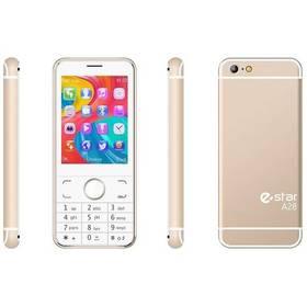 eStar A28 Dual SIM zlatý
