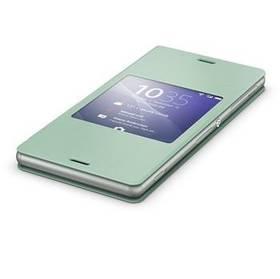 Puzdro na mobil flipové Sony SCR24 pro Xperia Z3 (1287-5636) zelené