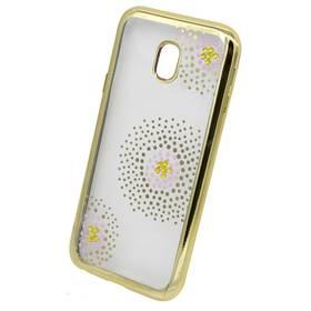 Beeyo Flower Dots pro Samsung Galaxy J3 (2017) (BEASAJ32017FDGO) zlatý