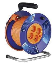 EMOS 4x zásuvka, 25m oranžový