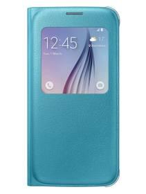 Puzdro na mobil flipové Samsung S-View pro Galaxy S6 (EF-CG920PL) (EF-CG920PLEGWW) tyrkysové
