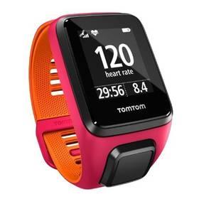 Tomtom Runner 3 Cardio (S) (1RK0.001.02) růžové/oranžové + Doprava zdarma