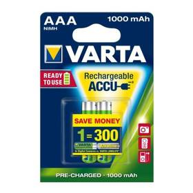Varta Rechargeable Accu, AAA, 1 000 mAh, 2 ks
