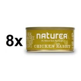 Naturea GF Cat - Chicken, Rabbit 8 x 80g