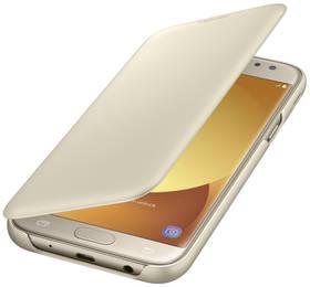 Samsung Wallet Cover pro J7 (2017) (EF-WJ730CFEGWW) zlaté