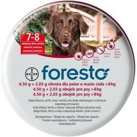 Bayer Foresto 70 cm pro psy Svítící přívěšek Bayer Foresto kost - červený (zdarma)