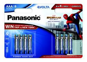 Baterie alkalická Panasonic Evolta AAA, Spider-Man Edition, 4+ 4 zdarma (LR03EGE/8BW 4+4F Spider-Man)