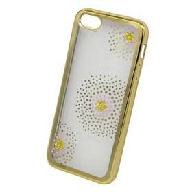 Beeyo Flower Dots pro Apple iPhone 5/5s/SE (BEAAPIP5SEFDGO) zlatý