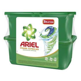 Prací prostředek Ariel Mountain Spring tekuté tablety 2 x 32 ks + Doprava zdarma