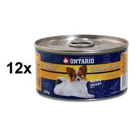 Ontario Adult kuřecí kousky a kuřecí nugety 12 x 200g