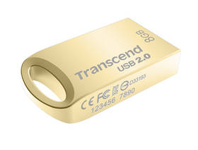 USB flash disk Transcend JetFlash 510G 8GB (TS8GJF510G) zlatý/kovový