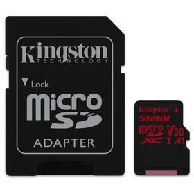 Kingston Canvas React MicroSDXC 512GB UHS-I U3 (100R/80W) + adapter (SDCR/512GB)