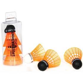 Speedbadmintonové míčky VicFun SHOCK Tube (3ks) - černo/oranžové