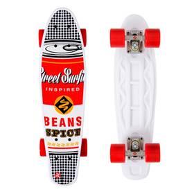 Street Surfing Pop Board Souper Black Dot + Reflexní sada 2 SportTeam (pásek, přívěsek, samolepky) - zelené v hodnotě 58 Kč