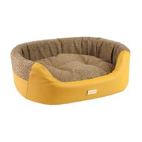 Argi pro psa oválný Morgan žlutý - 54 x 45 x 16 cm